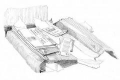 ausgepackt-2, Bleistift, 28 x 32, 2020
