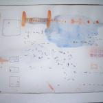 fast Karteilich 3, Feder/Aquarell, 24 x32 cm