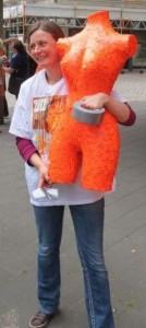 Kerstin Schulz während des Projekts